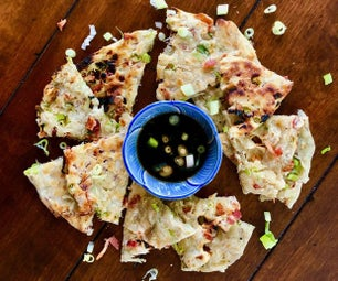 Grilled Bacon Scallion Pancakes