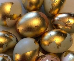 Naturally Gilded Easter Eggs