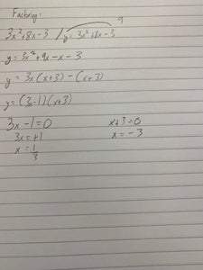 Second Way to Find the X-intercepts (Roots, Solutions, Zeros): Factoring