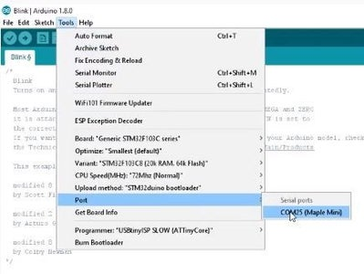 Setting Up the Arduino IDE for STM32