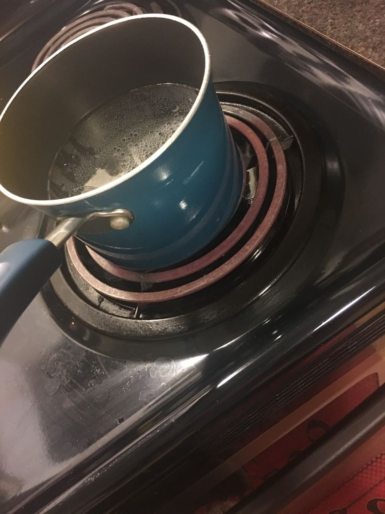 Picture of  Pour Oil and Sprinkle Salt in Pot of Water