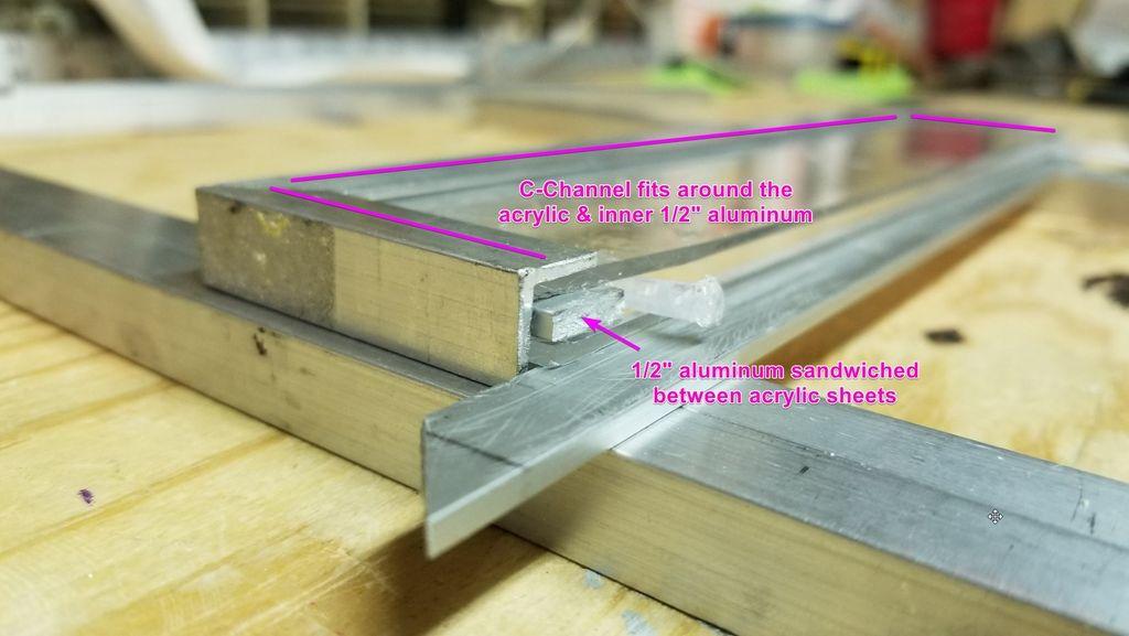 Picture of Part 3e - Form Window Braces Using C-Channel Bars
