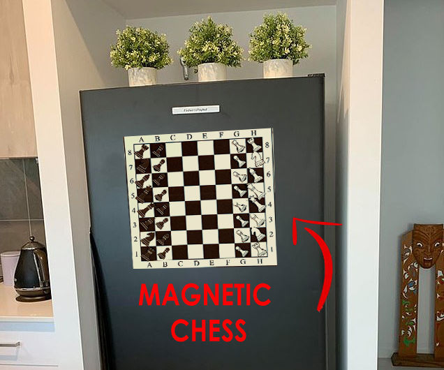 MAGNETIC Chess Board!