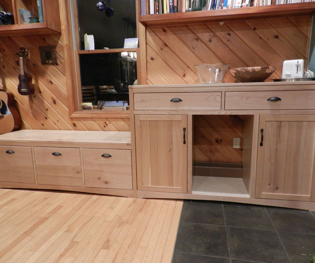 A Kitchen Window Seat and Hutch