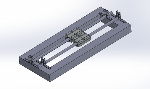 Making the Linear Guide Track for X and Z-axis