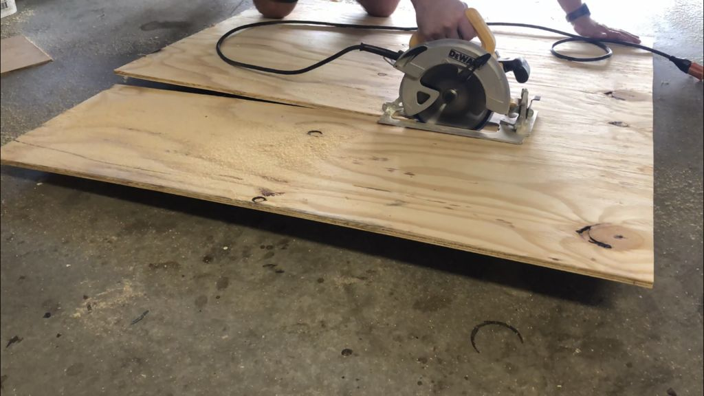 "Picture of Cut a 1/2"" Piece of Plywood for the Base"