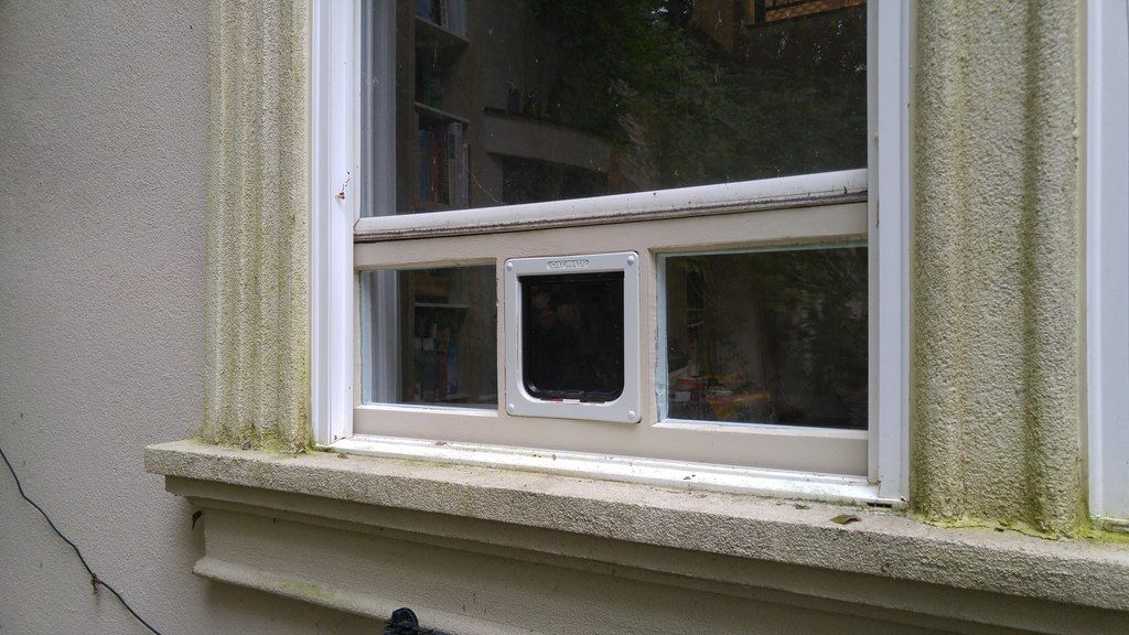 Picture of Pet Door Window Insert From XPS Foam and Double-Pane Glass