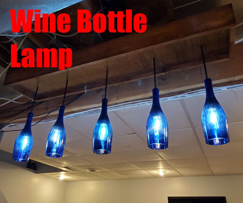 Picture of Wine Bottle Lamp (Chandelier)