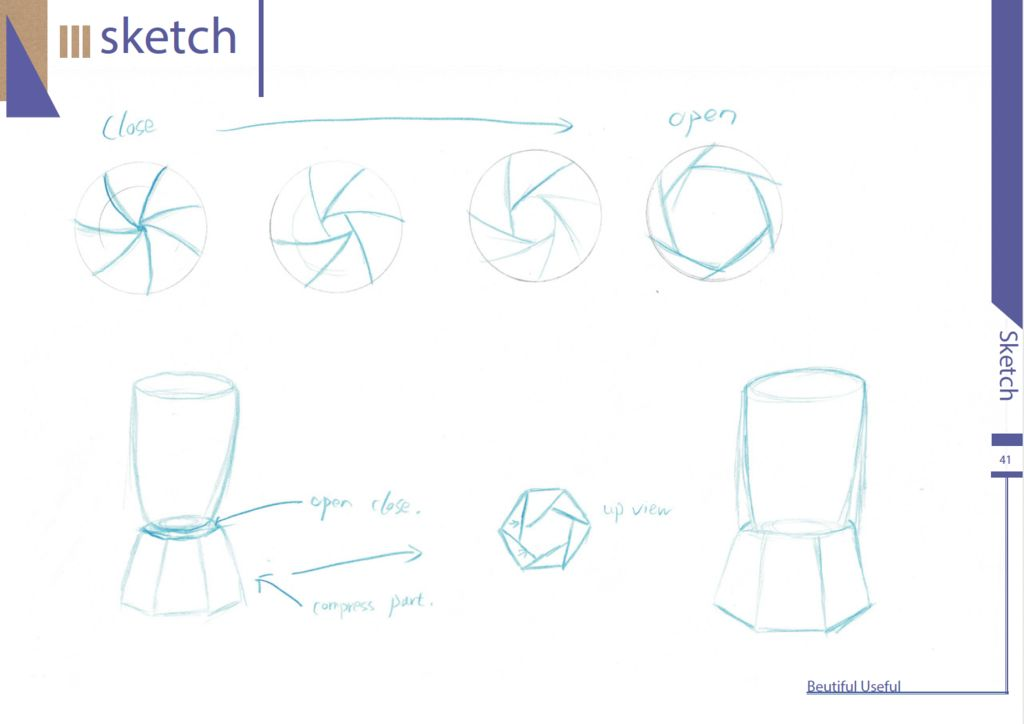 Picture of Ideation Sketches4--Compress Rubbish Bin