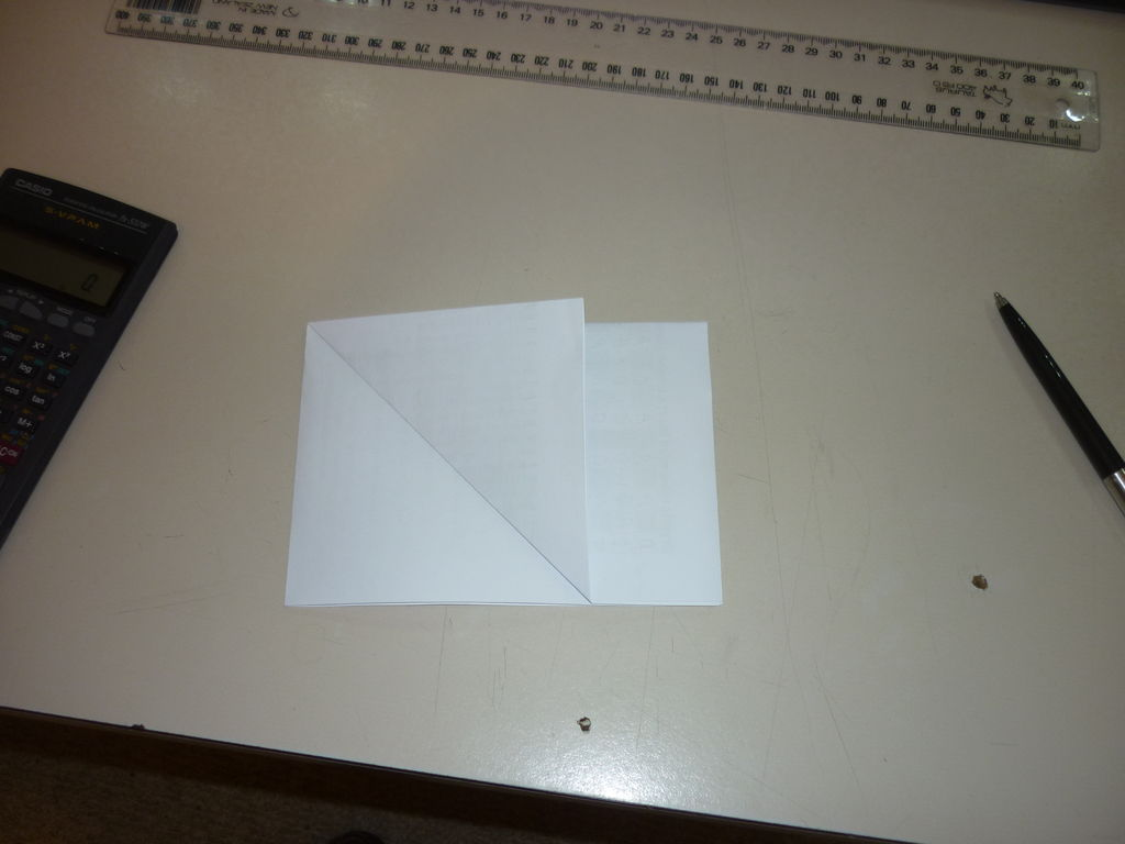 Picture of Making an Octagon by Folding. and Joke