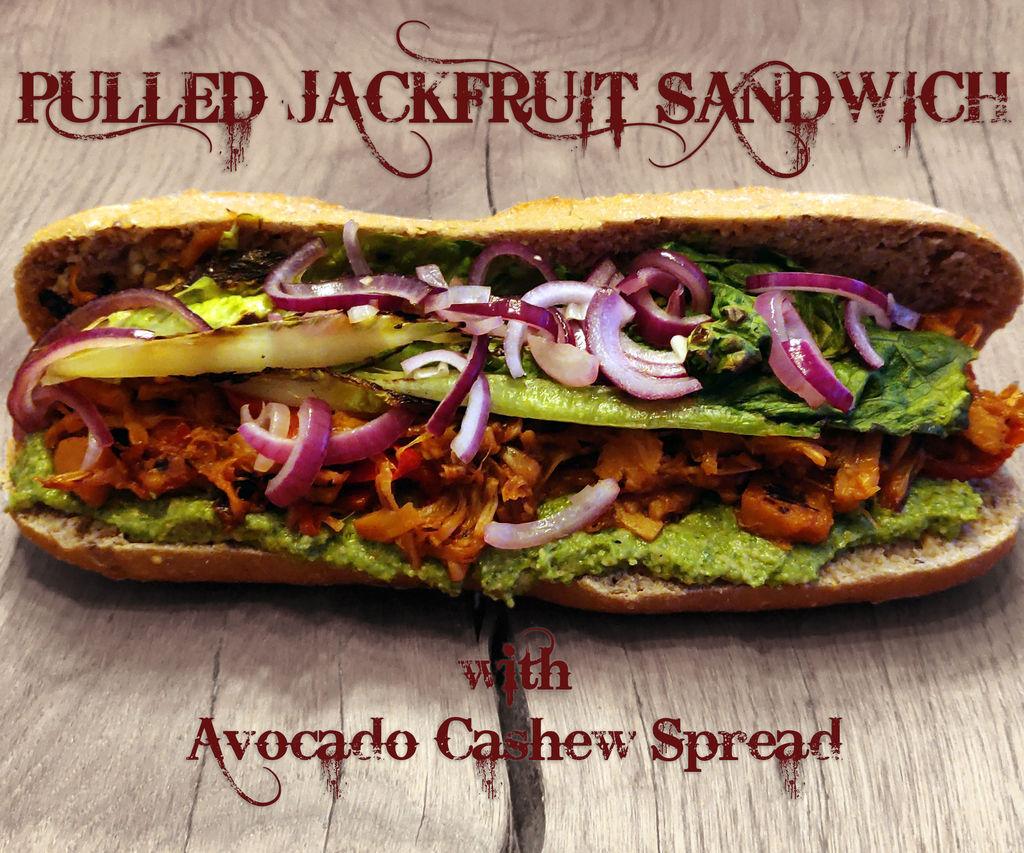 Pulled Jackfruit Sandwich With Avocado Cashew Spread