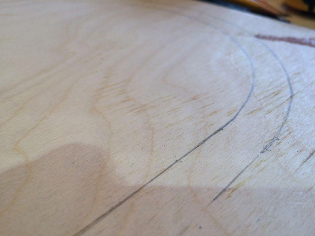 Picture of Marking the Board Shape