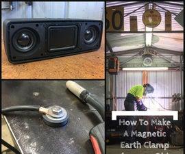 用旧扬声器做一个磁焊接接地钳
