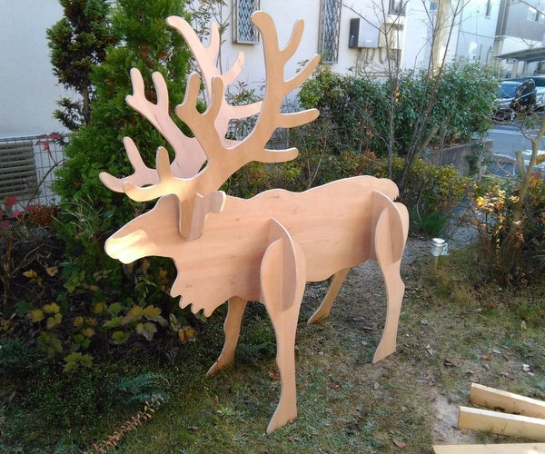 Plywood Reindeer