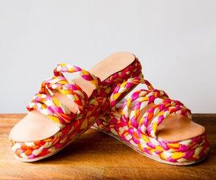 Raffia Plateau Sandals
