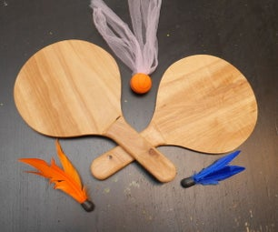 Wooden Paddles for Use With Goodminton/Jazzminton Birdies