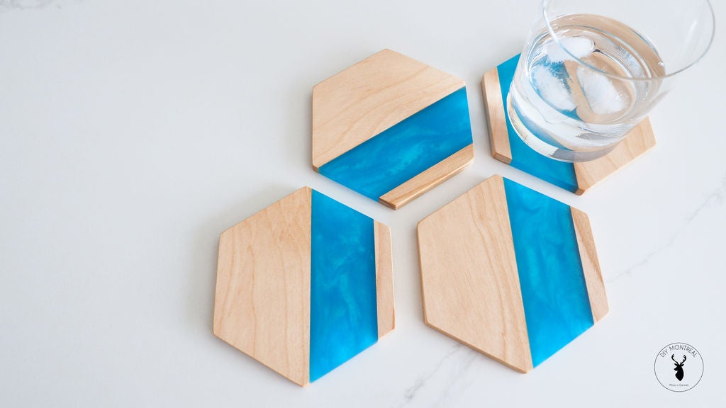 Picture of Wood & Epoxy Hexagon Coasters