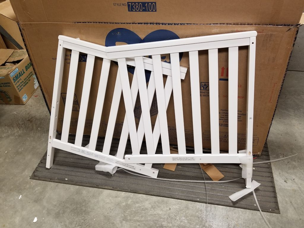 Picture of Partially Diassemble the Crib for Modifications