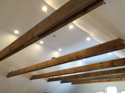 Disguising the Wood Collar Tie Beams to Look Like Steel I-Beams