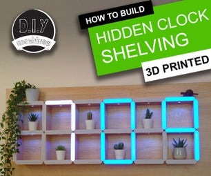 How to Build a Giant Hidden Shelf Edge Clock