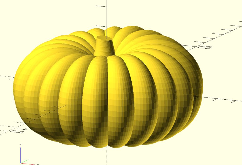 Picture of Model of a Pumpkin