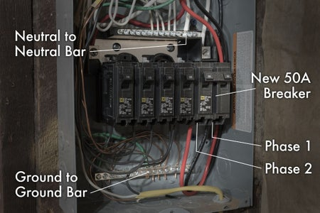 Connections in the Sub Panel