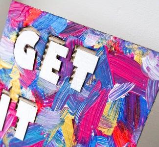 DIY Cardboard Typography Art