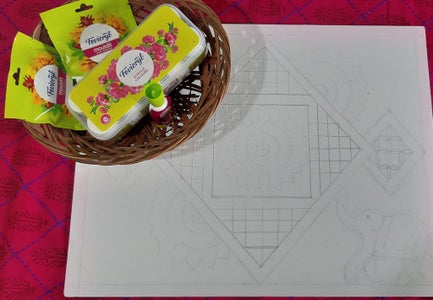 Draw the Designs on Canvas