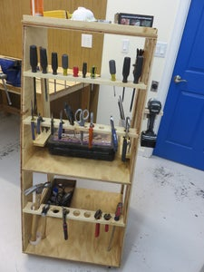 Movable Shop Tool Ladder