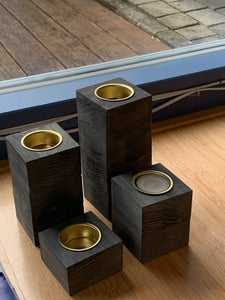 Wooden Decoration: Candle Blocks