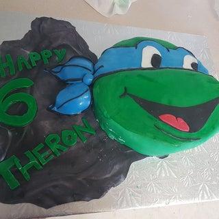 Marvelous Teenage Mutant Ninja Turtle Cake 6 Steps With Pictures Funny Birthday Cards Online Alyptdamsfinfo