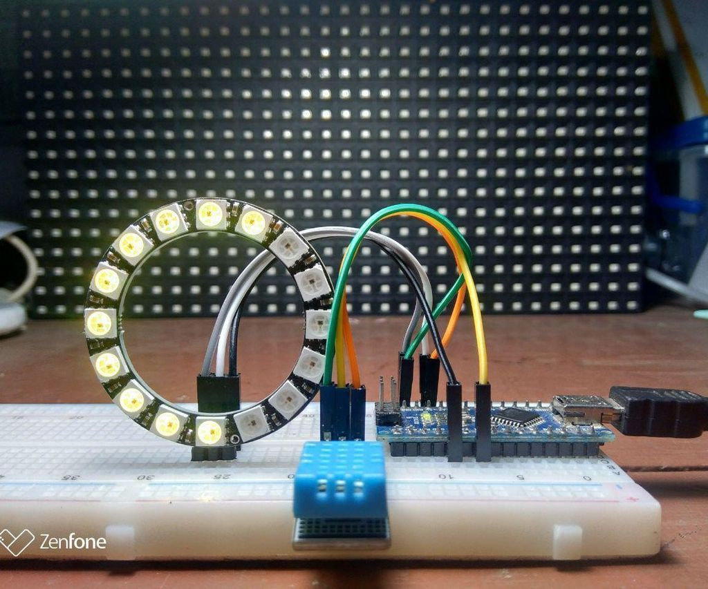 Arduino RGB Ring Thermometer