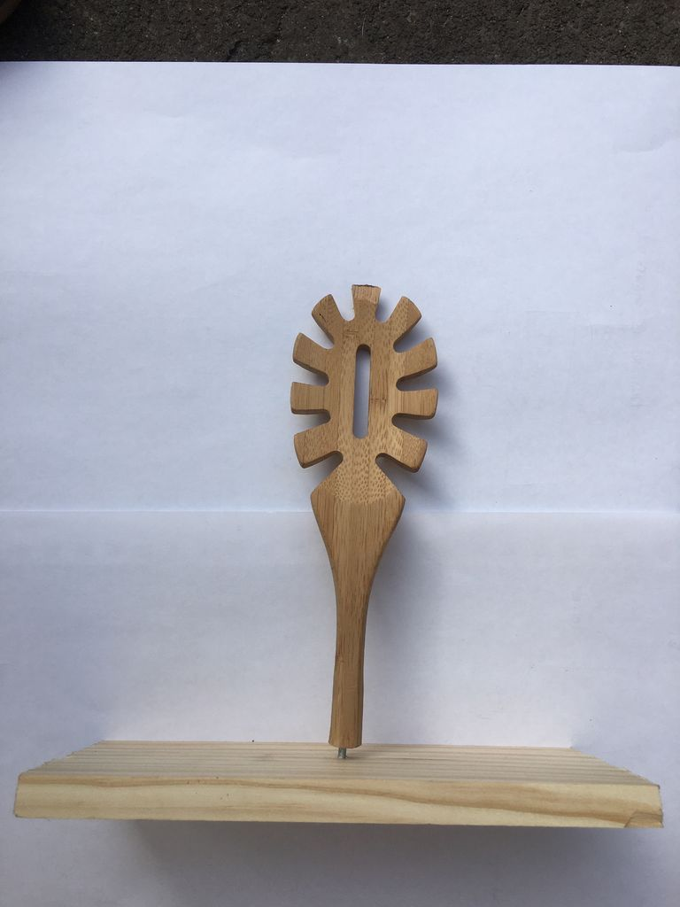 Picture of Attach Spoon to Wood Panel