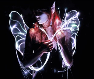 Programmable Fiber Optic Fairy Wings