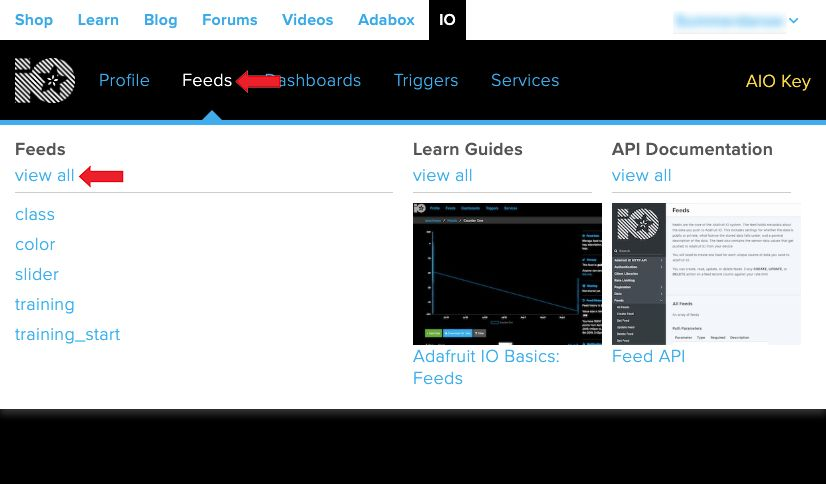 Picture of Create New Feed in Adafruit