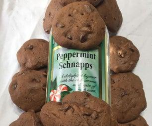 Peppermint Schnapps Chocolate Drop Cookies