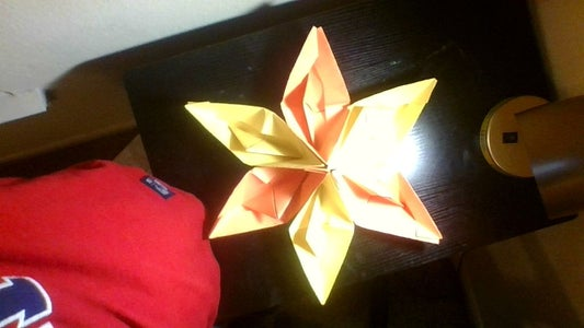 A Star Made by Paper Boats.
