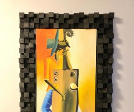 Coolest Way to Frame Canvas Art: the Soundboard Frame!