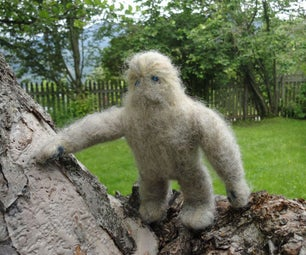 Needlefelting a Pocket Yeti / Ickabog