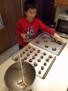 Then You Get a Cookie Scoop and Scoop the Cookie (Dough Balls) Onto the Cookie Sheet
