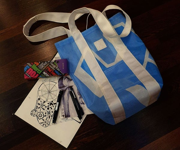 How to Make a Shopper Bag From Used Banner