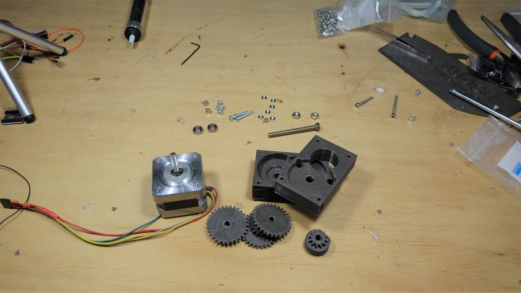 Picture of 3D Printed 16:1 Nema 17 Gearbox