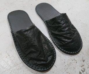 制作皮拖鞋