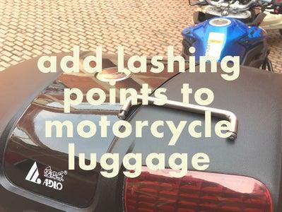 Motorcycle Touring Lashing Points