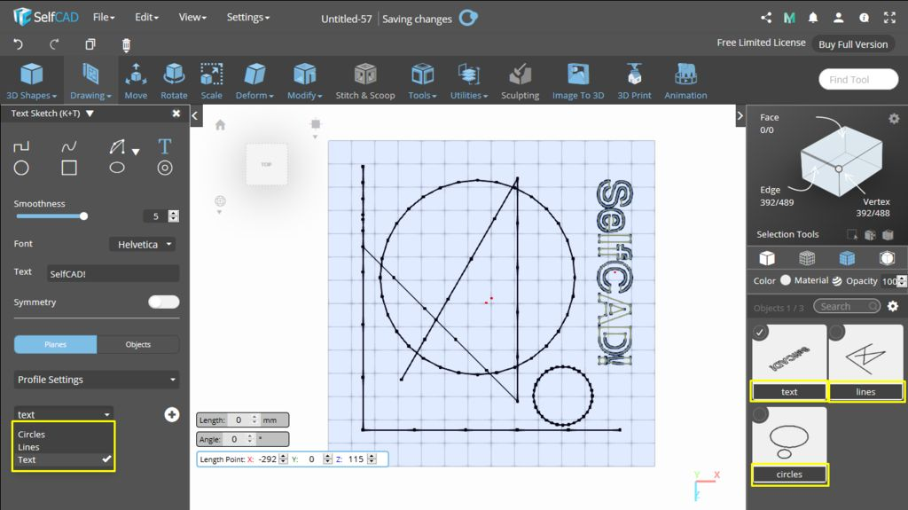 Picture of 3D Sketch: Profile Settings