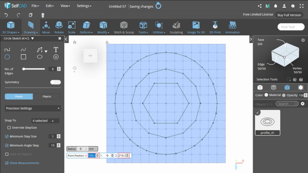 Picture of 3D Sketch: Circle