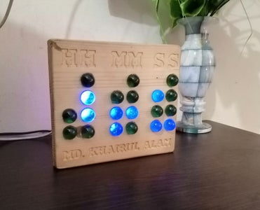 Binary Desk Clock