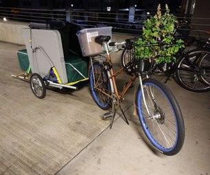 一个可调节的自行车拖车的工艺摊位