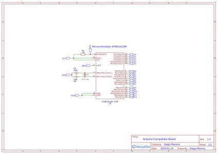 ATMEGA328P Electronic Schematic