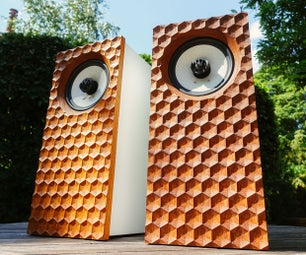 3D Hexagonal Dimple Hifi Speakers | CNC Front Baffle
